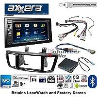 Volunteer Audio Axxera AVN6558BT Double Din Radio Install Kit with Navigation Bluetooth CD/DVD Player Fits 2013-2015 Honda Accord