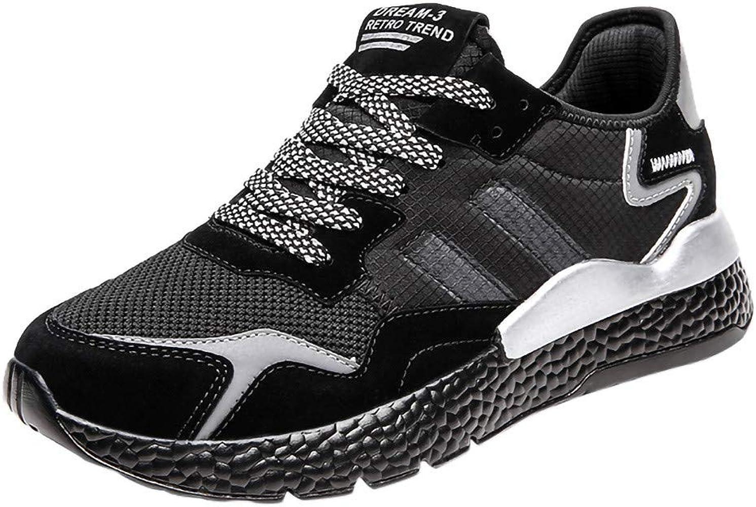 Darringls Zapatillas Deportivas para Correr Usar Zapatillas de Deporte de Color sólido para Hombres Atlético Corriendo Respirable Deportes Zapatos Moda Casual Al Aire Libre 39-46: Amazon.es: Ropa y accesorios