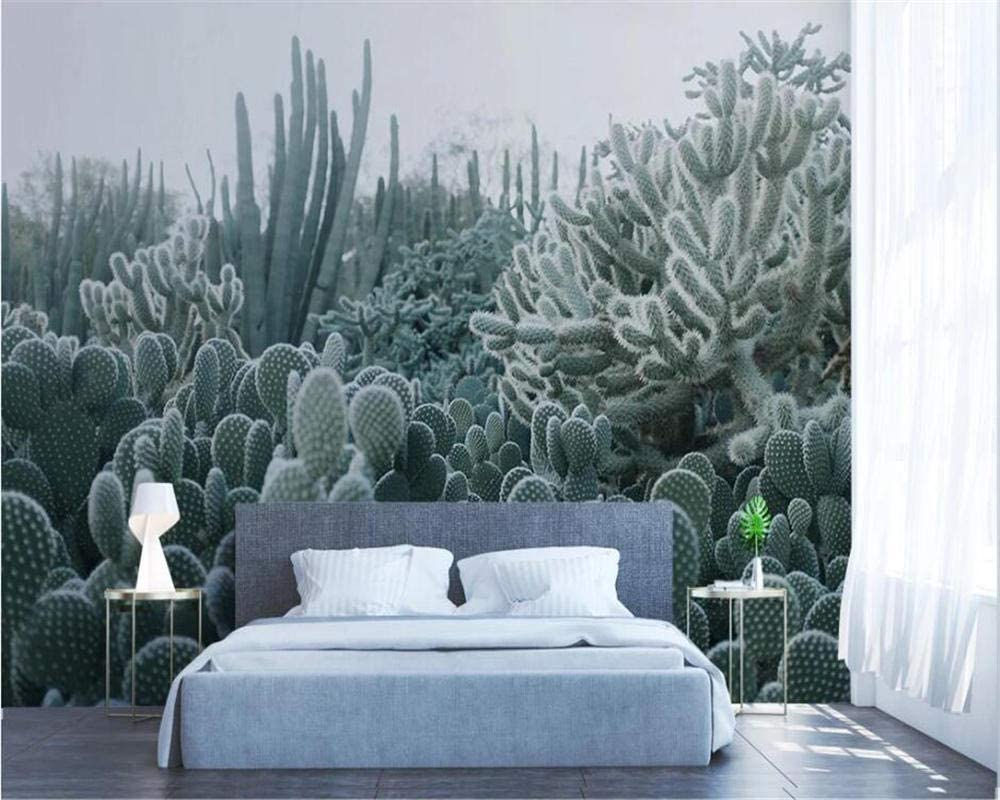 Amazon Com Nidezuiai Mural Customize 4d Wallpaper Nordic Minimalist Cactus Plant Series Hd Print Art Wall Painting Poster Picture Large Silk Mural For Living Room Bedroom Home Decor Furniture Decor
