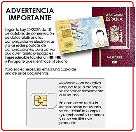 Tarjeta SIM prepago Orange Mundo 4G con 5€ + 5€ de saldo (10€ en total) | Solo para usar en España | Requiere enviar DNI, NIE o Pasaporte para activarla: Amazon.es: Electrónica
