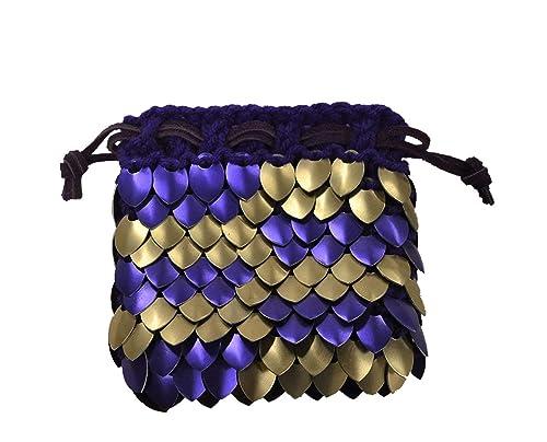 Striped Medium TTRPG Dice Bag Dice Not Included