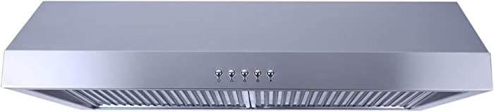 Presenza 7 in. Under Cabinet Ducted Range Hood w Push Button in Stainless Steel