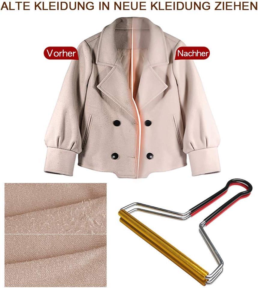 Tragbarer Flusenentferner 2 Set Clothes Fuzz Shaver stellt Ihre Kleidung und Stoffe wieder her. Fleece-Entferner aus Magnesiumlegierung tragbarer Flusenentferner f/ür Wollkaschmir und andere Stoffe