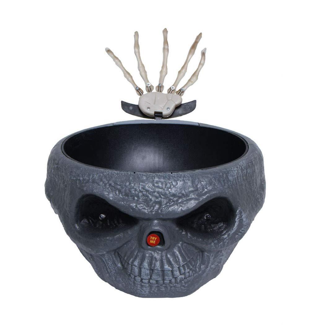 Transer Fruit Bowl, Halloween Decorations Nut Bowls Dish Basket with Jumping Skull Hand Halloween Decor Supplie (Beige) Transer-
