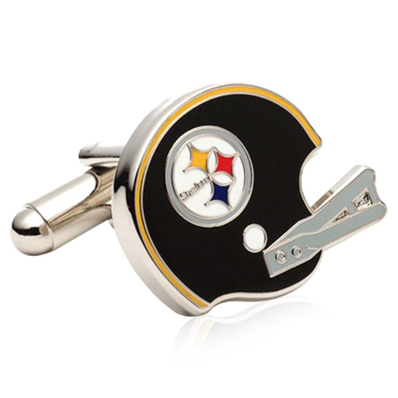 Cufflinks Inc. Mens Retro Pittsburgh Steelers Helmet Cufflinks