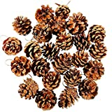 Christmas Decoration Libermall 24pcs Christmas Pine Cones Bauble Xmas Tree Party Hanging Decoration Ornament, Perfect for Holiday Xmas Christmas Pendant Accessories Gift