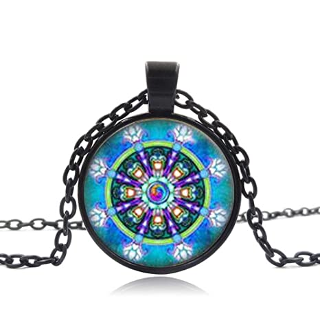 Collar de geometría sagrada, joyería budista con tuerca, joyería ...