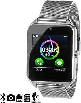 DAM - Smartwatch Phone Ak-Z60 Silver. Cámara de fotos y videos ...
