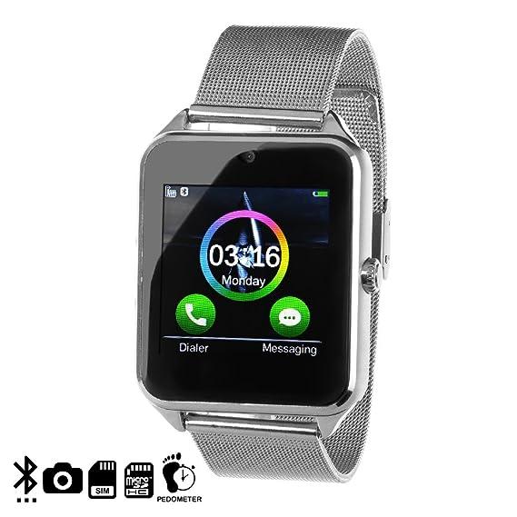 DAM - Smartwatch Phone Ak-Z60 Silver. Cámara de fotos y videos incorporada de 2mpx. Posibilidad de tarjeta SIM y tarjeta micro SD hasta 32Gb. ...