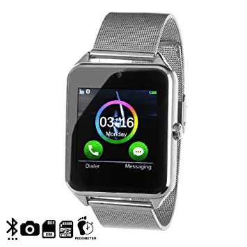 DAM - Smartwatch Phone Ak-Z60 Silver. Cámara de fotos y videos ...