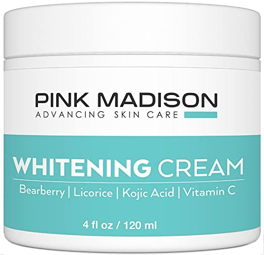 Skin Lightening Cream with Kojic Acid Vitamin C Hyaluronic Acid. Best Natural Brightening Lotion