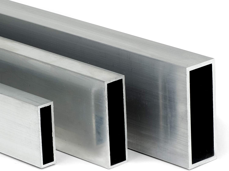 auf Zuschnitt L: 700mm 70cm Aluminium Rechteckrohr AW-6060-40x10x2mm