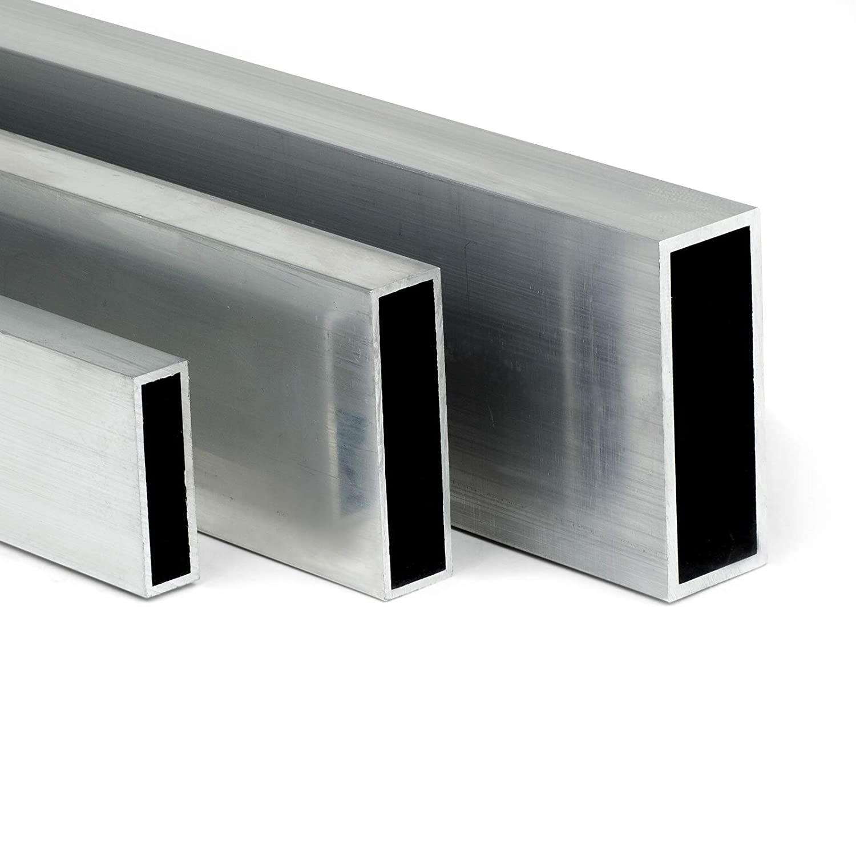 Aluminium Rechteckrohr AW-6060-50x25x2mm L: 500mm 50cm auf Zuschnitt