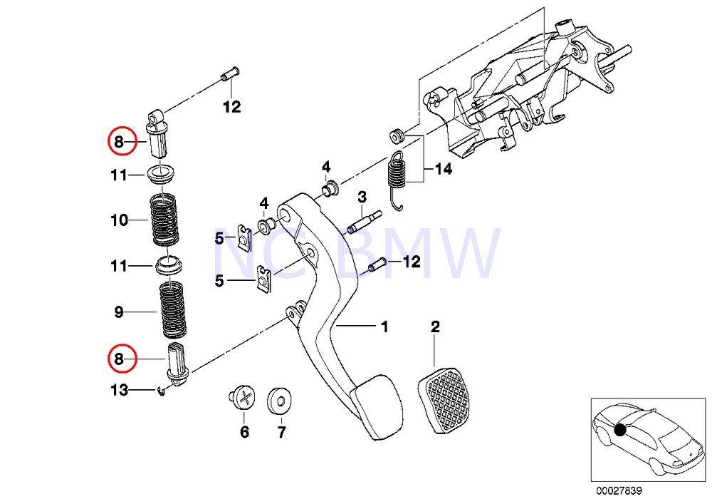 61imsPryVXL._SL1000_ amazon com bmw genuine compression spring bracket automotive