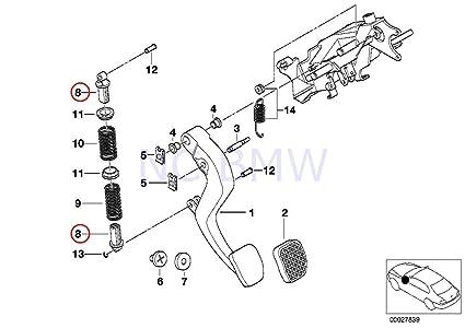 61imsPryVXL._SX425_ amazon com bmw genuine compression spring bracket automotive