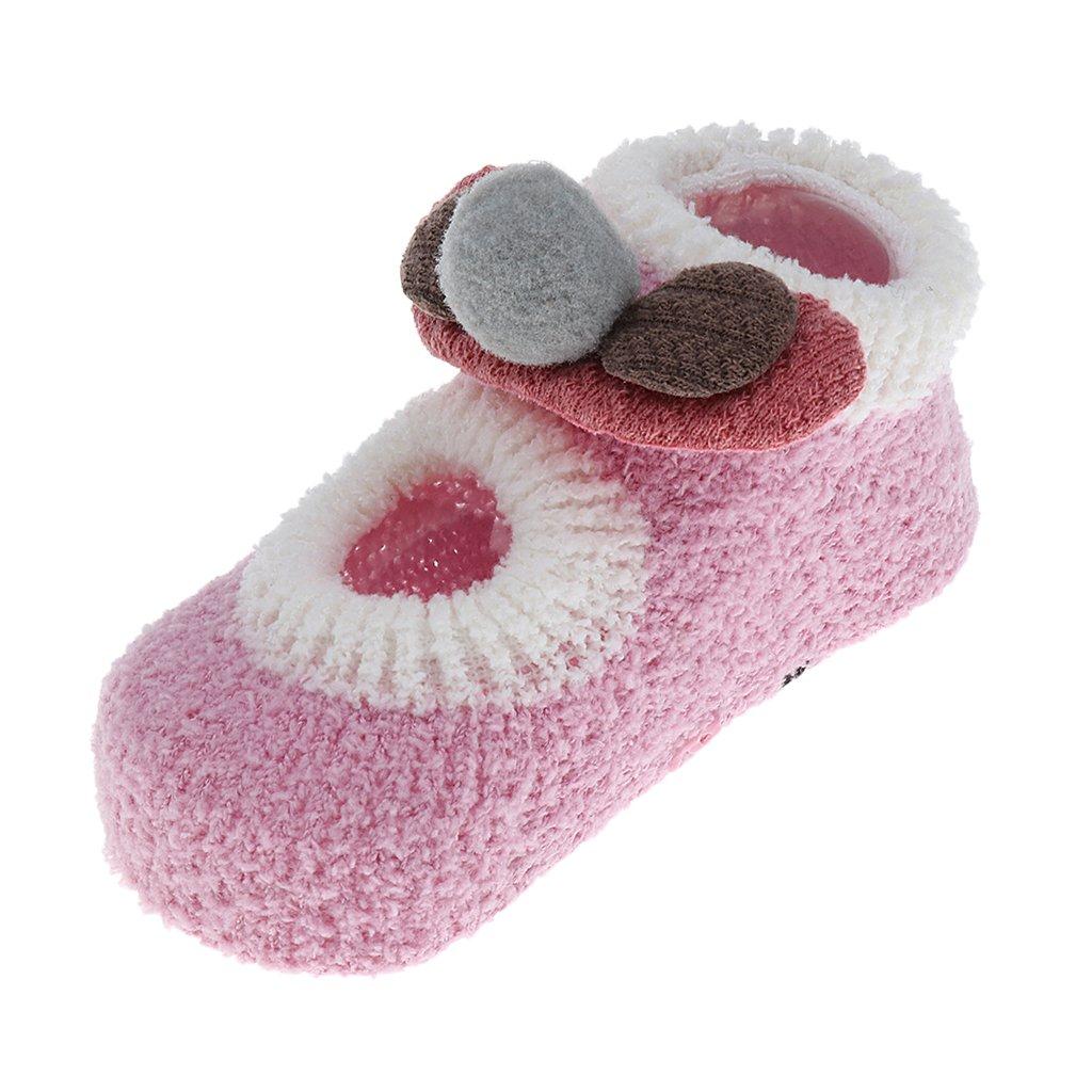 MonkeyJack 0-24 Months Cartoon Newborn Baby Girls Boys Anti-slip Socks Slipper Boots - Gray, 12-24M
