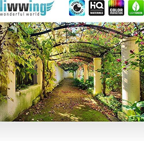 Papel Pintado Fotográfico 200 x 140 cm Premium Plus – Papel pintado fotográfico pared de pintado de – Way In My Garden – Jardín Terraza Flores Flores 3d Perspectiva – No. 047: Amazon.es: Bricolaje y herramientas