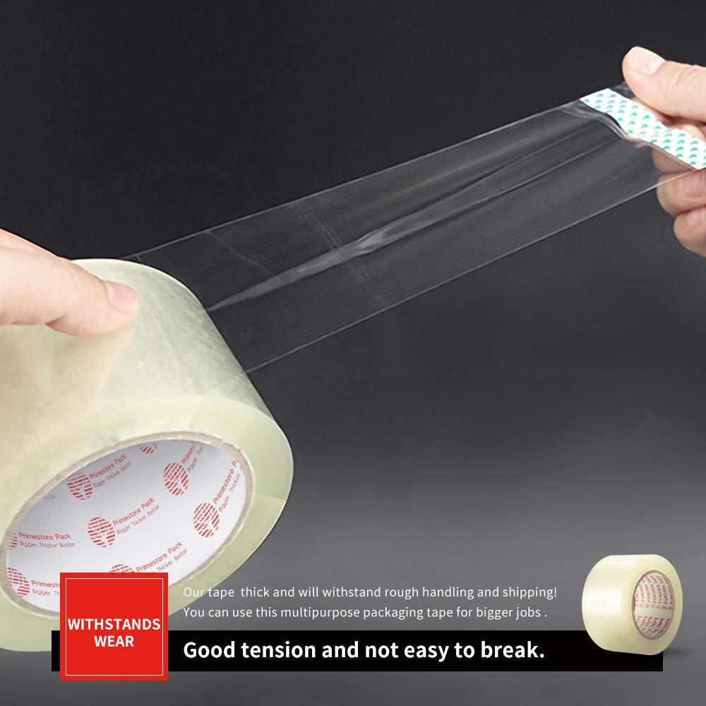 Nastro trasparente per imballaggio largo 60 mm x 66 m 6 rotoli per pacchi e scatole