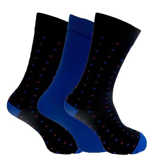 Para hombre Alexander calcetines de bambú verde 7 - 11 Lunares Estilo Azul azul Large: Amazon.es: Ropa y accesorios