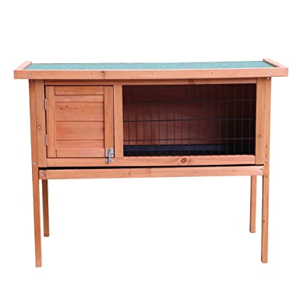 Olymstore Natural Wood Color Waterproof Chicken Coop Rabbit Hutch Wood House  Pet Cage For Small Animals