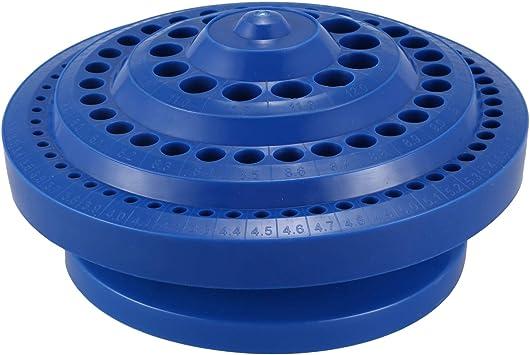Naliovker Caja de almacenamiento en forma redonda de plastico duro ...