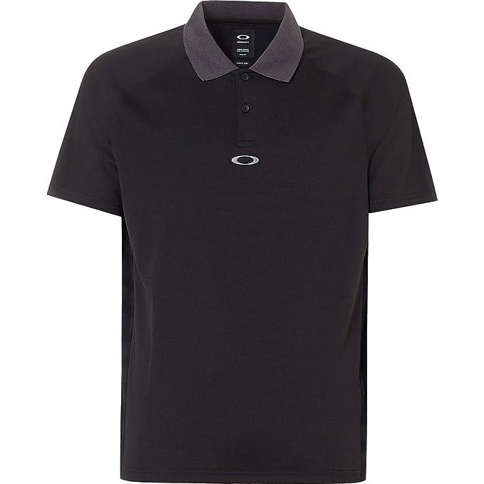 Oakley Mens Polo Shirt Ss Back Striped, Blackout, S: Amazon.es ...