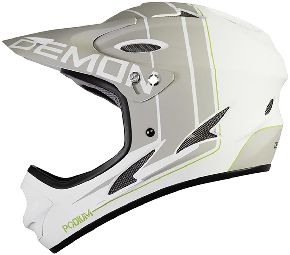 Demon Podium Full Face Mountain Bike Helmet (White, S)