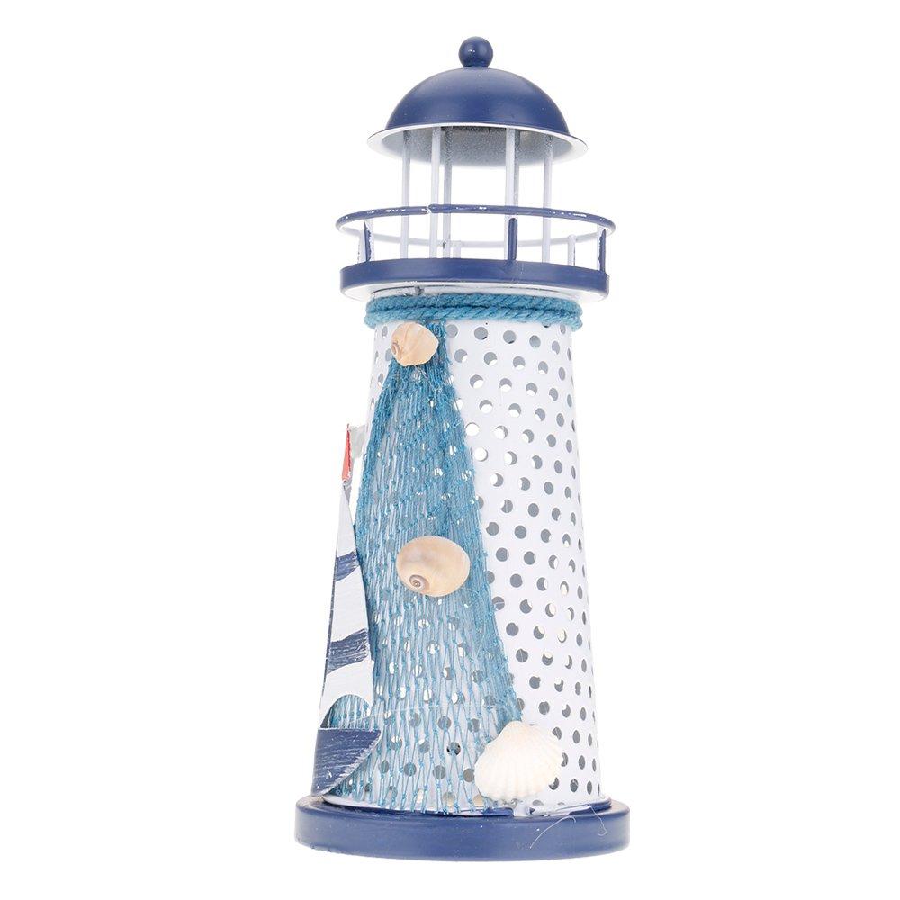 ?Nouvelle color n/áutico mediterr/áneo Faro LED Linterna Luz cambiantes aleatorio M