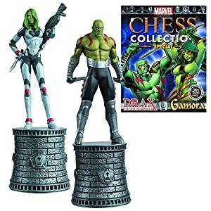 Marvel Gamora and Draxx Special Chess Pieces with Collector Magazine