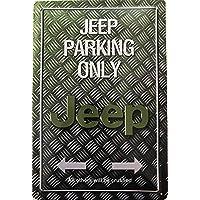 Deko7 blikken bord 30 x 20 cm Jeep Parking Only Griffel