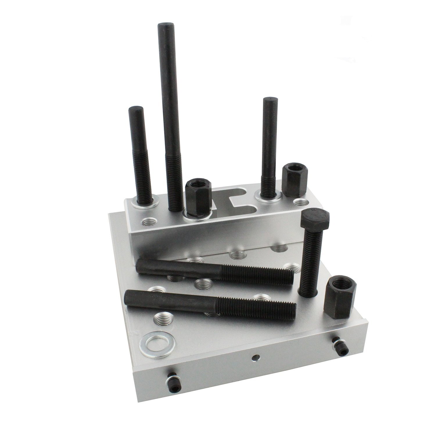 ABN Universal Drill Press Support Block Plate Tool Set Kit, 30 Ton – Bearing and Bushing Repair Removal Installation