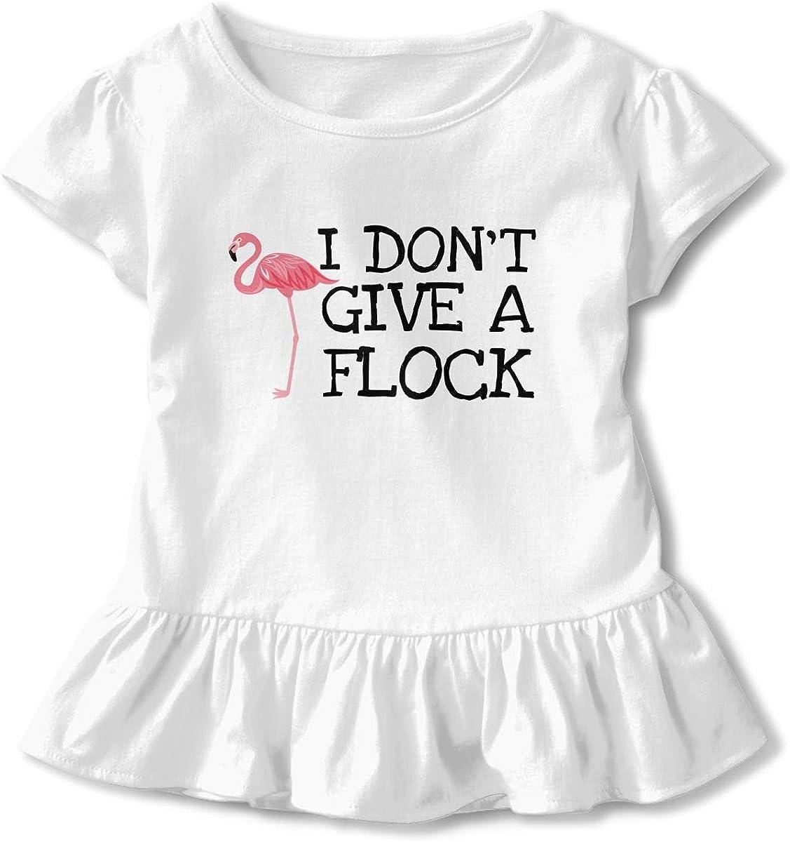 Cheng Jian Bo Im Dont Give A Flock Toddler Girls T Shirt Kids Cotton Short Sleeve Ruffle Tee