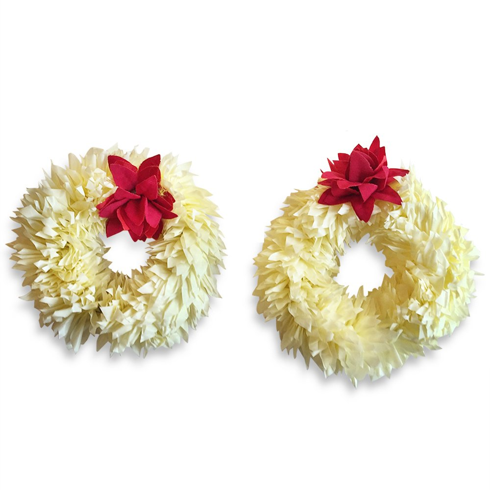 NoshiOutdoor Artificial Hand Gajra for Mehndi, Wedding-Reuseable-USA Shipping 2Pk-Mothers Day Gifts