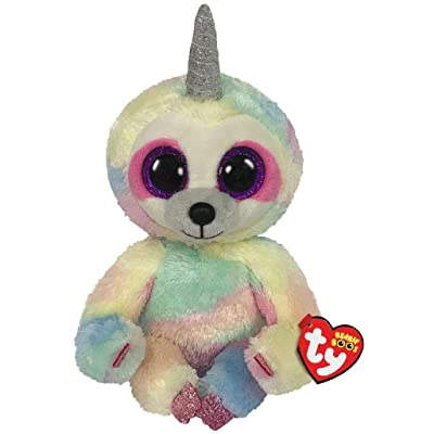 Ty Beanie Boos Cooper - Sloth with Horns Medium: Toys & Games