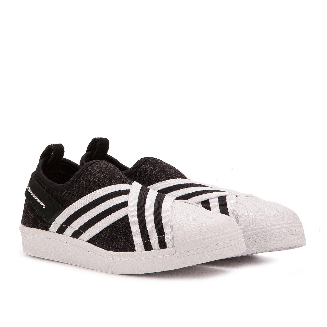 sports shoes 97cb7 29c2d adidas Men White Mountaineering Superstar Slip-On Primeknit Black core  Black Footwear White Size 10.0 US