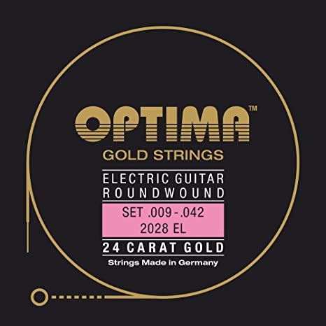 Cuerdas Optima para Guitarra ElŽctrica Gold Strings Round Wound Si2 cuerda suelta
