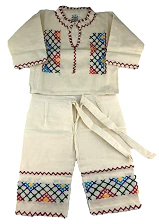Amazon.com: Pantalones y camisa mexicanos de talla 1, color ...