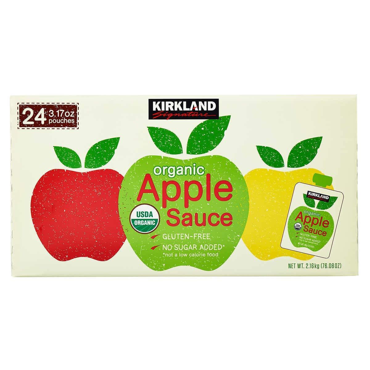 Kirkland Signature Organic Applesauce Pouch, 24 Count
