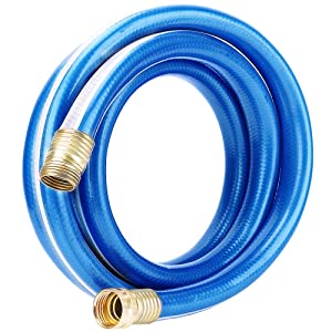 Homes Garden Hose Short 3/4 in. x 10 ft. Water Hose Blue Lead-Hose Male/Female High Water Pressure with Solid Brass Fittings for Water Softener, Dehumidifier, Vehicle Water Filter 8 Years Warranty