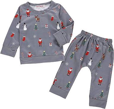 Carters Baby Girls 2-Piece Long Sleeve Fleece Pajama Set Christmas Reindeer 12M
