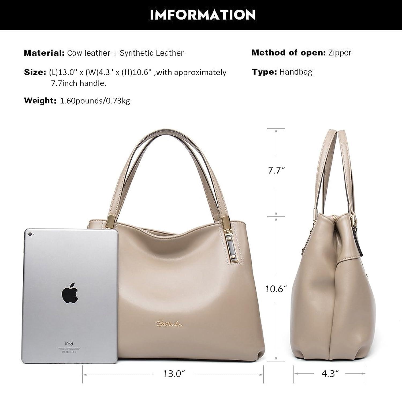 Amazon.com: BOSTANTEN Womens Leather Handbags Designer Tote Purses ...