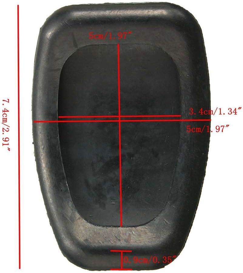 Porfeet Coussin De P/édale dembrayage Couverture De Coussin en Caoutchouc De P/édale dembrayage De V/éhicule De Voiture Compatible avec Renault Megane Clio Kango Sc/énic
