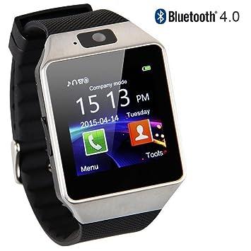 Amazon.com: Reloj inteligente, Bluetooth, pantalla tá ...