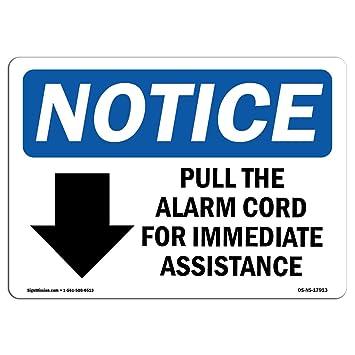 Señal de advertencia de Osha, tira del cable de alarma para ...