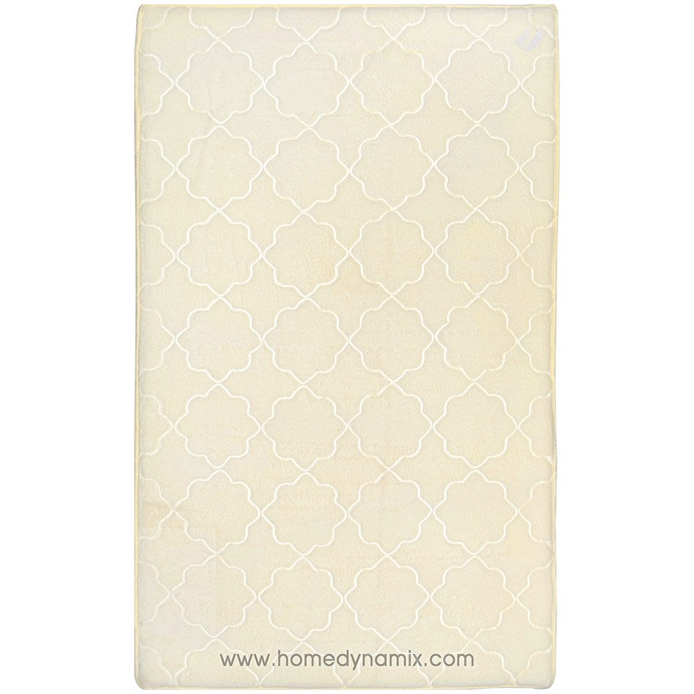 Spa Retreat Memory Foam Bath Mat/rug Set : Non Skid Backing, Soft Microfiber, Trellis Design (Ivory, 20'' x 47'')