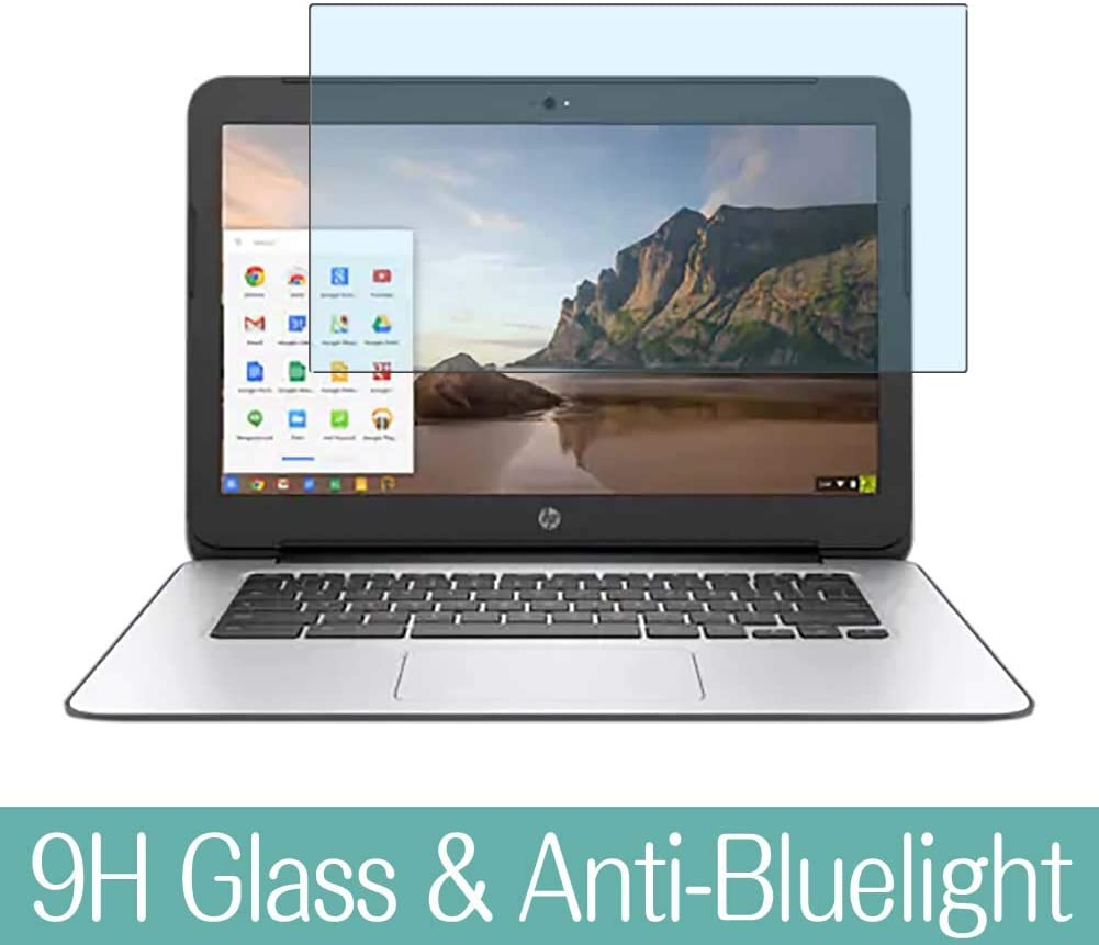 "Synvy Anti Blue Light Tempered Glass Screen Protector for HP Chromebook 14 G4 14"" Visible Area 9H Protective Screen Film Protectors"