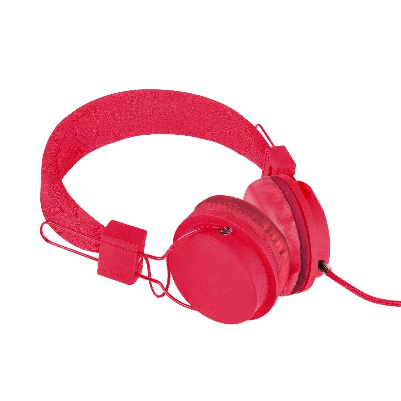 f8bb46d272e Amazon.com: Vivitar VIV-1052-RED Foldable Dj Mixer Headphones, Red: Home  Audio & Theater