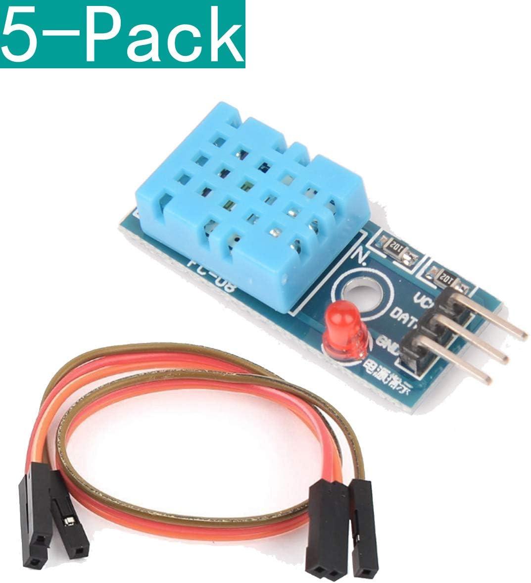 Youmile 5 Pack DHT11 Módulo de Sensor de Temperatura y Humedad Relativa para arduino: Amazon.es: Electrónica