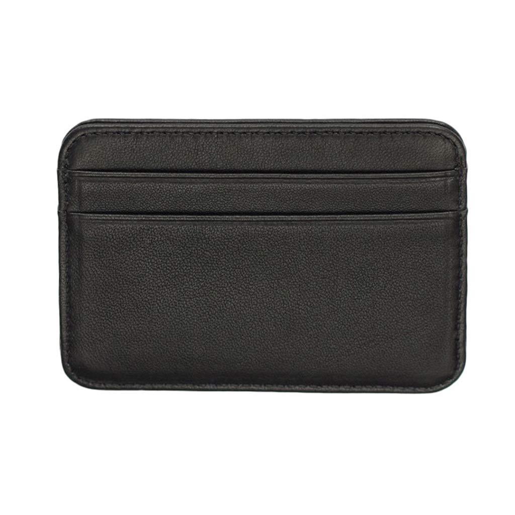 Men Wallet Genuine Leather Slim Money Organizer Credit Card Holder Coin Pocket