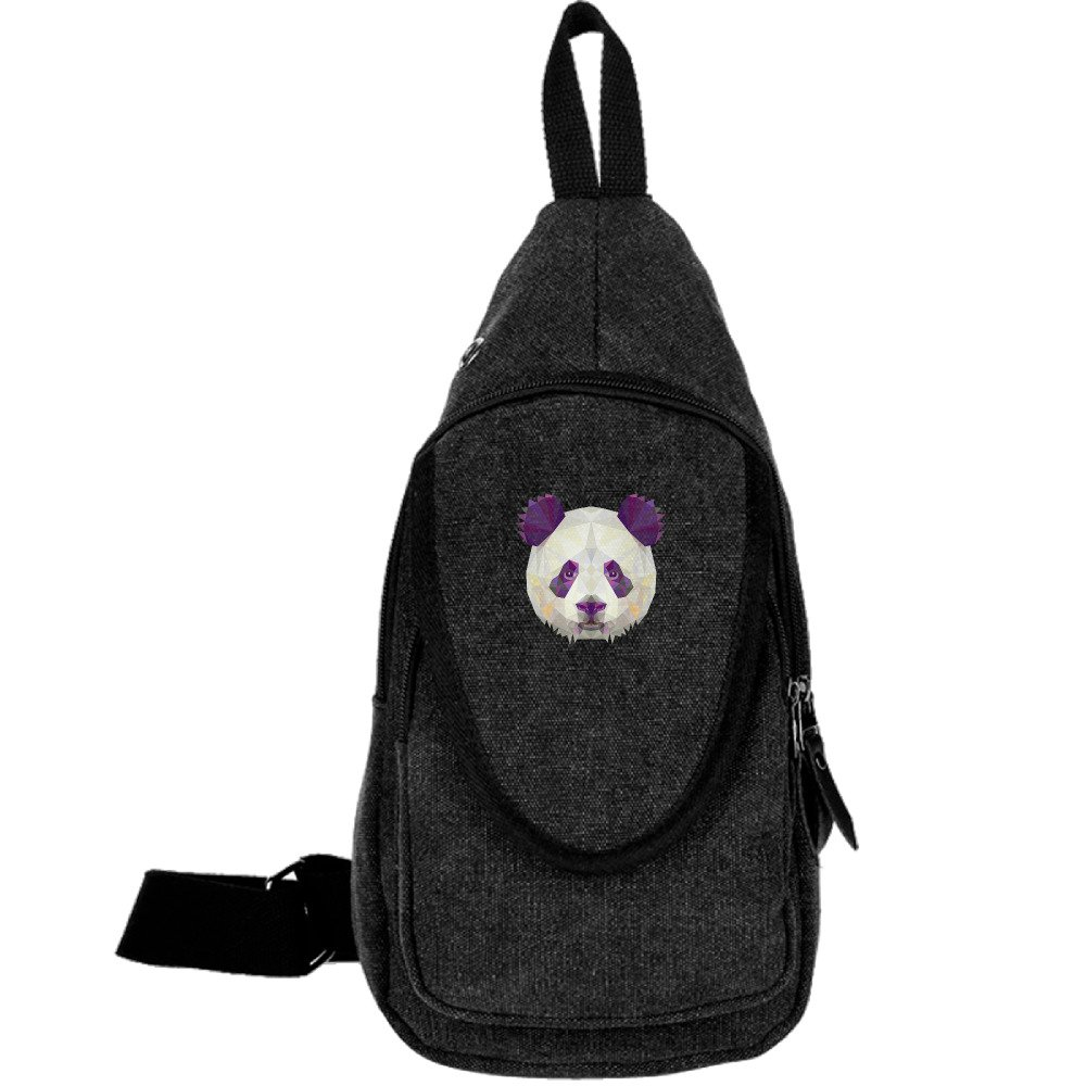 MOME CAW Panda Head Chest Pack Sling Shoulder Bag CrossBody Backpack For Sports And Hiking free shipping